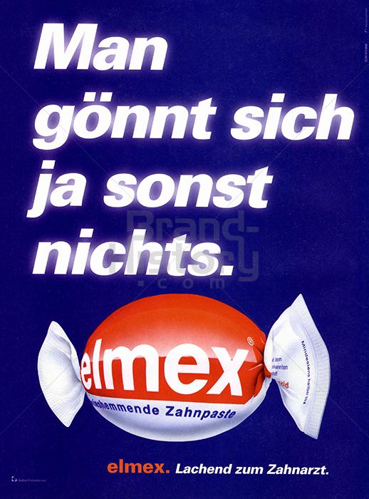 elmex elmex man g nnt sich ja sonst nichts elmex lachend zum zahnarzt brand history. Black Bedroom Furniture Sets. Home Design Ideas