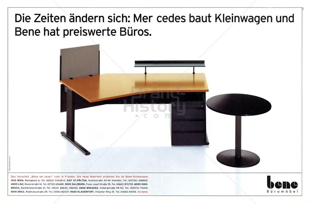 bene Büromöbel | Brand-History
