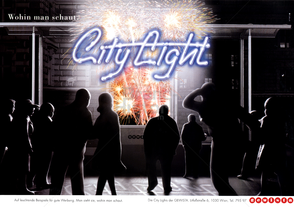 auf leuchtende beispiele fr gute werbung man sieht sie wohin man schaut die city lights der gewista litf brand history - Gute Werbung Beispiele