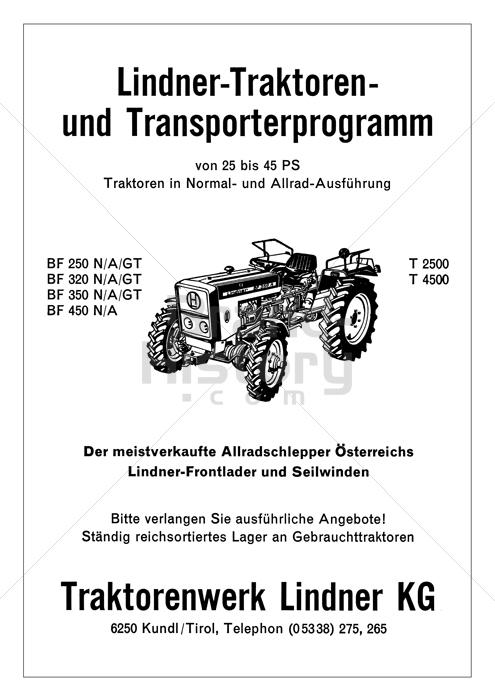 Fabelhaft Traktorenwerk Lindner KG - Lindner-Traktoren- und #TT_69