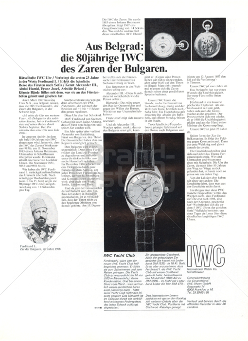 IWC · INTERNATIONAL WATCH CO.