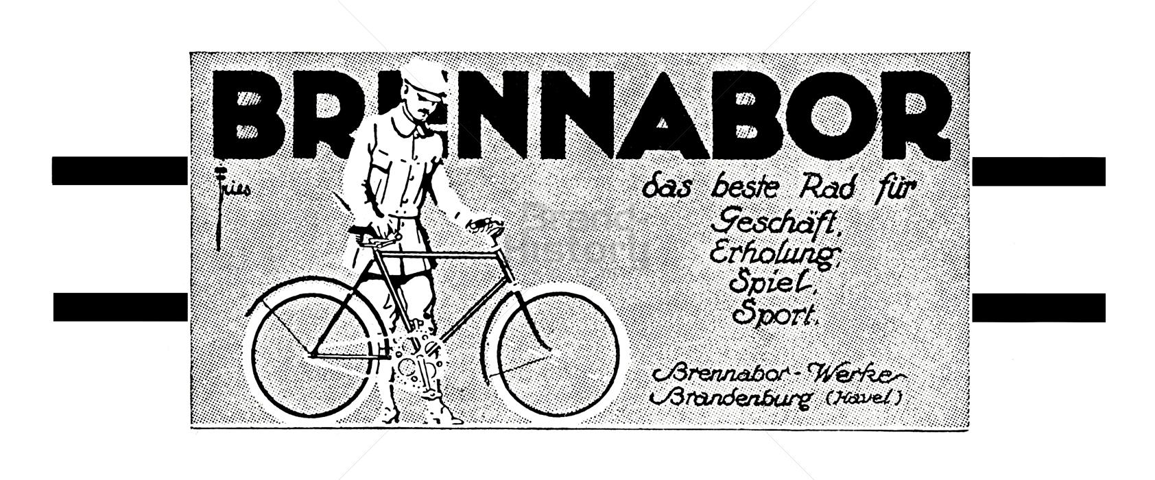 J. Fries, Flensburg Prima Fahrräder enorm billig. J. Fries