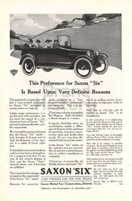 SAXON MOTOR CAR CORPORATION
