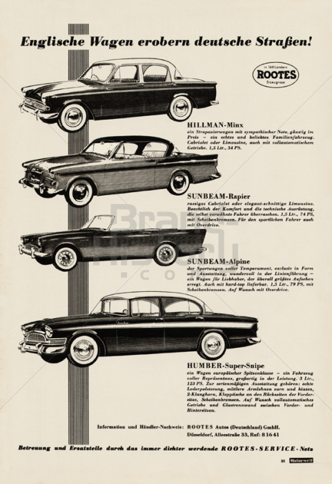 Rootes autos brand history for Pb motors rochester ny