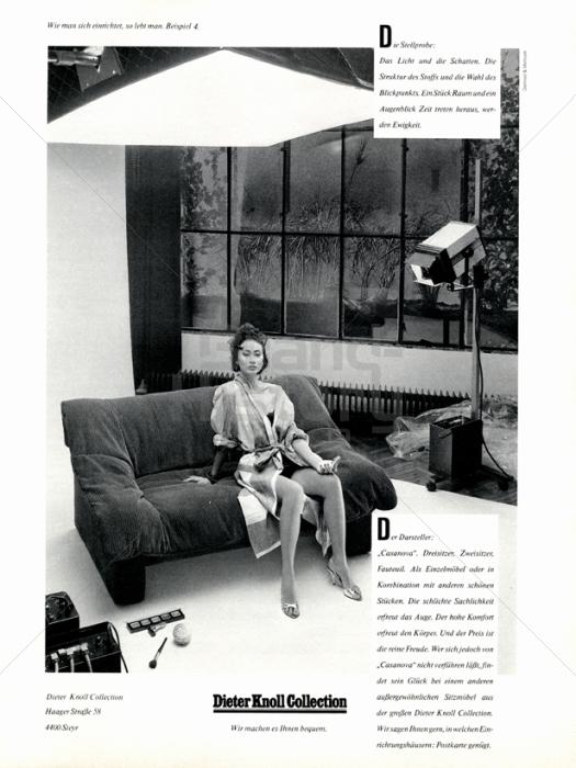 dieter knoll collection die stellprobe werbeslogans claims und marken. Black Bedroom Furniture Sets. Home Design Ideas