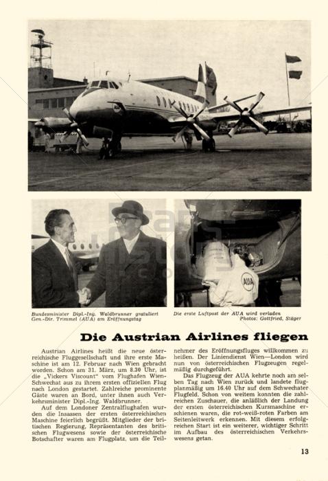 Austrian airlines die austrian airlines fliegen for Fliegen in blumenerde vernichten