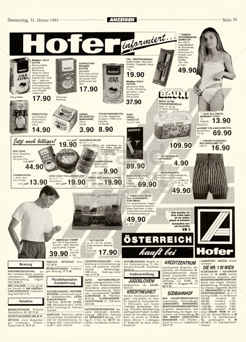 Hofer österreich Kauft Bei Hofer Preise Gültig Kalenderw