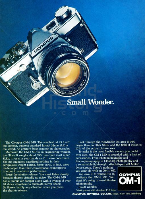 OLYMPUS - OLYMPUS OM-1 · Small Wonder.   Brand-History