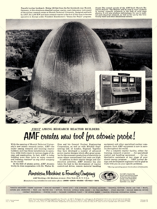 AMF · AMERICAN MACHINE & FOUNDRY COMPANY