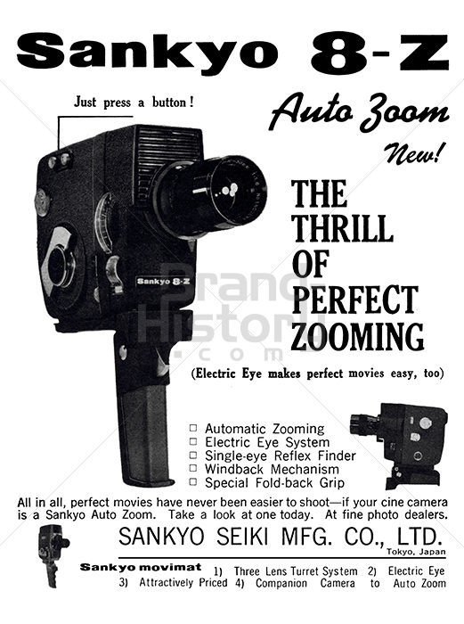 SANKYO - Sankyo 8-Z Auto Zoom · THE THRILL OF