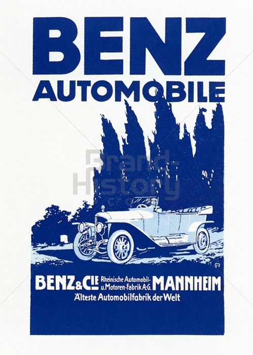 Mercedes benz daimler benz ag 100 jahre automobil for Vintage mercedes benz posters