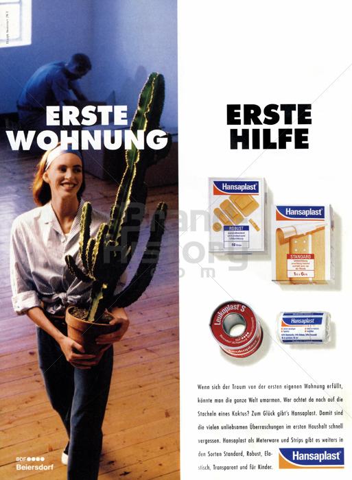 Hansaplast erste wohnung erst hilfe brand history for Wohnung dekorieren hilfe