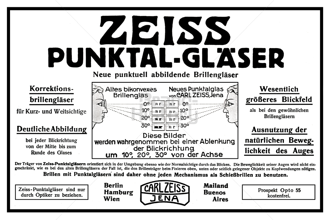 ZEISS ZEISS PUNKTAL GLÄSER · Neue punktuell abbildende