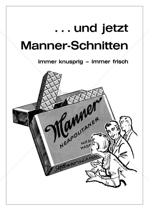 Manner Manner Neapolitaner  C B Und Jetzt Manner Schnit Werbeslogans Claims Und
